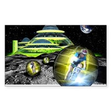 Computer artwork of men cyclin Decal