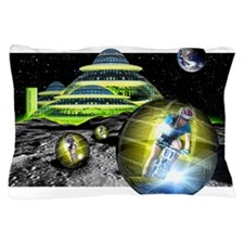 Computer artwork of men cycling from a Pillow Case