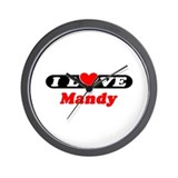 I Love Mandy Wall Clock