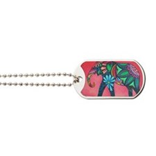 Psychedelic Elephant Dog Tags