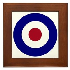 British Bullseye Framed Tile