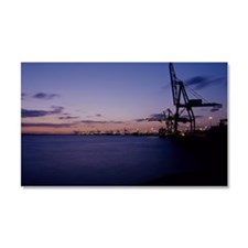 Container cranes Car Magnet 20 x 12