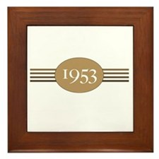 1953 Authentic Original Framed Tile