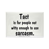 Tact/Sarcasm. Rectangle Magnet (100 pack)