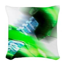 Crash test dummy Woven Throw Pillow