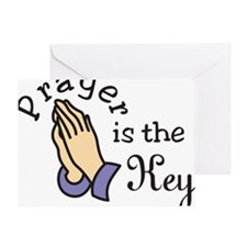 Prayer Is The Key Greeting Card