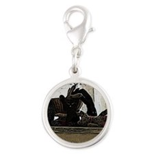 SockMonsters Silver Round Charm