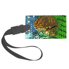Digital brain Luggage Tag