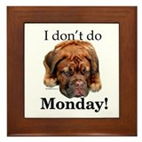 Dogue Monday Framed Tile