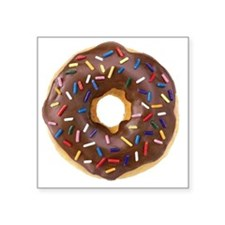 "Doughnut Lovers Square Sticker 3"" x 3"""