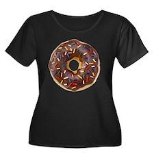 Doughnut Women's Plus Size Dark Scoop Neck T-Shirt
