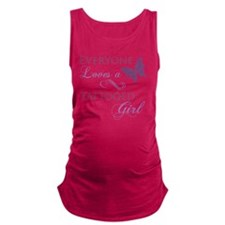 Tattooed Girl Maternity Tank Top