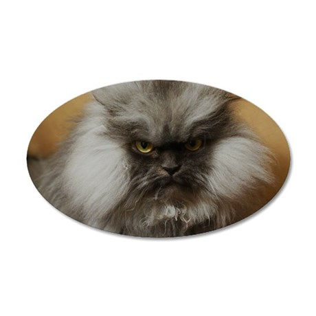 Colonel Meow scowl face 35x21 Oval Wall Decal