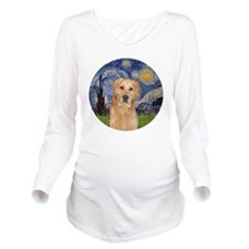 Starry - Golden (K) Long Sleeve Maternity T-Shirt