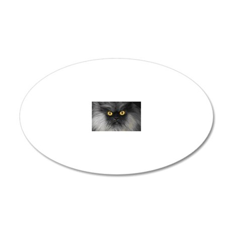 Yellow Eyes 20x12 Oval Wall Decal
