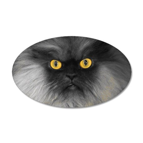 Yellow Eyes 35x21 Oval Wall Decal
