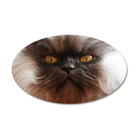 Colonel Meow smells scotch a 35x21 Oval Wall Decal