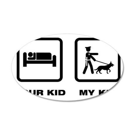 K9-Police-ABJ1 35x21 Oval Wall Decal