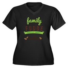 Funny Family Women's Plus Size Dark V-Neck T-Shirt