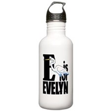 E is for Evelyn Water Bottle