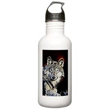 Fractalius Wolf Water Bottle