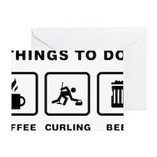 Curling-ABH1 Greeting Card