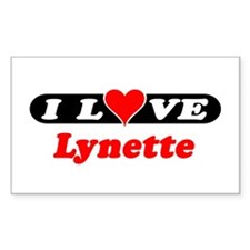 I Love Lynette Rectangle Pegatinas