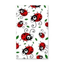 Cute Ladybug pattern Rectangle Car Magnet