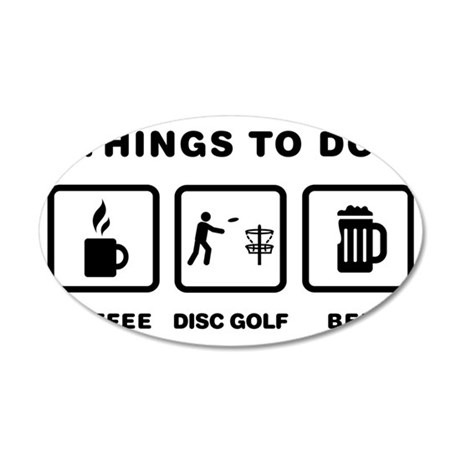 Disk-Golf-ABH1 35x21 Oval Wall Decal