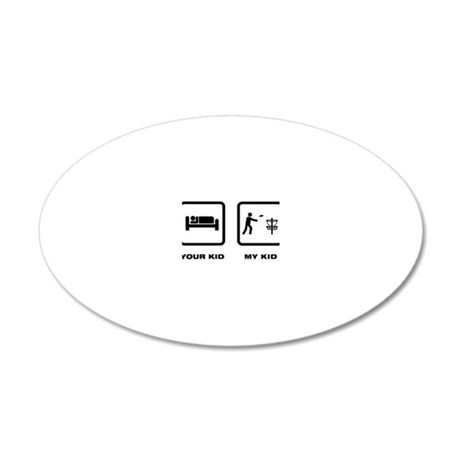 Disk-Golf-ABJ1 20x12 Oval Wall Decal
