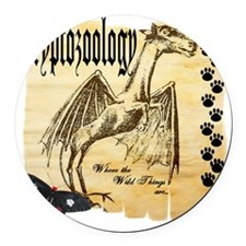 Cryptozoology Wild Things Round Car Magnet