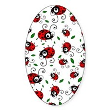 Cute Ladybug pattern Decal
