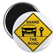 Share the road front view Magnet