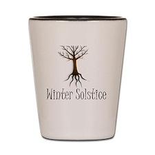 Winter solstice FALL TREE magic pagan w Shot Glass