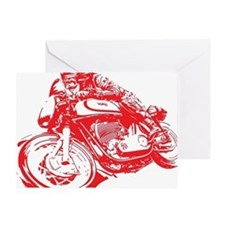 Norton Cafe Racer Greeting Card