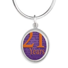 21 Year Birthday - Miracle Silver Oval Necklace