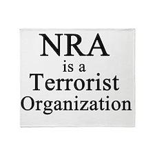 NRA Terrorist Throw Blanket