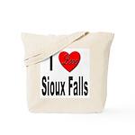 I Love Sioux Falls Tote Bag