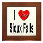 I Love Sioux Falls Framed Tile
