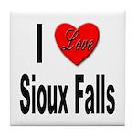 I Love Sioux Falls Tile Coaster