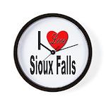I Love Sioux Falls Wall Clock
