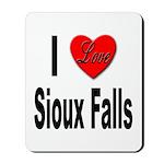 I Love Sioux Falls Mousepad