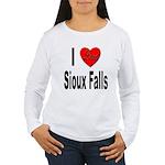 I Love Sioux Falls Women's Long Sleeve T-Shirt