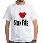 I Love Sioux Falls (Front) White T-Shirt