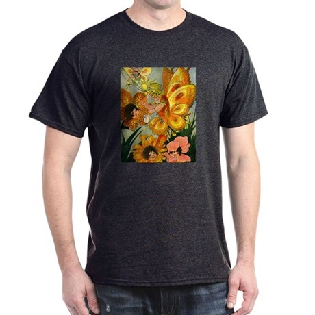 Flower Folk Charcoal T-Shirt