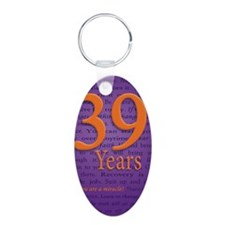 39 Year Recovery Birthday Keychains