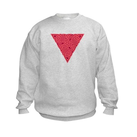 Pink Triangle Knot Kids Sweatshirt