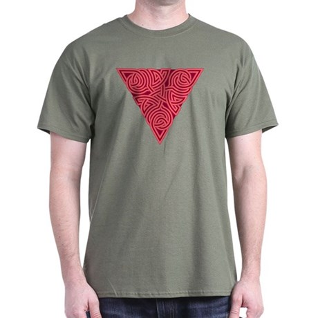 Pink Triangle Knot Dark T-Shirt