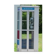 Phone Booth Rectangle Car Magnet