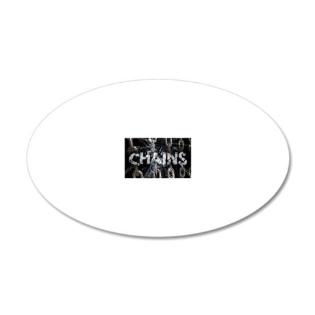 Chains 20x12 Oval Wall Decal